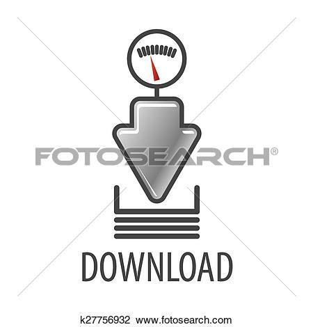 Clipart speed arrow. Of vector logo for