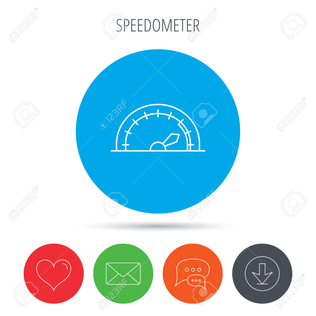 Clipart speed arrow picture library stock Speedometer Icon. Speed Tachometer With Arrow Sign. Mail, Download ... picture library stock