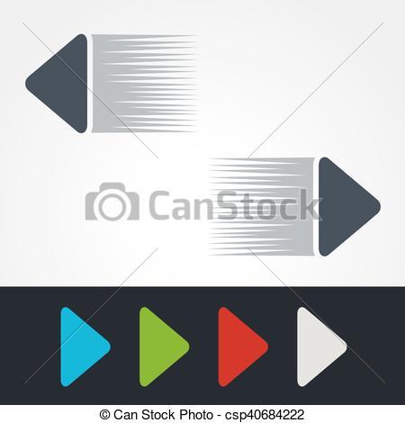 Clipart speed arrow. Vector illustration of blue