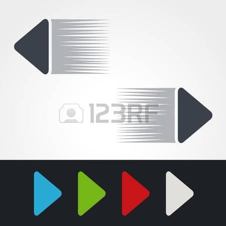 stock vector illustration. Clipart speed arrow