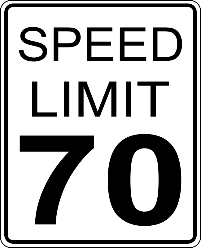 Clipart speed limit jpg freeuse Free Clipart: CA speed limit 70 roadsign | paulprogrammer jpg freeuse
