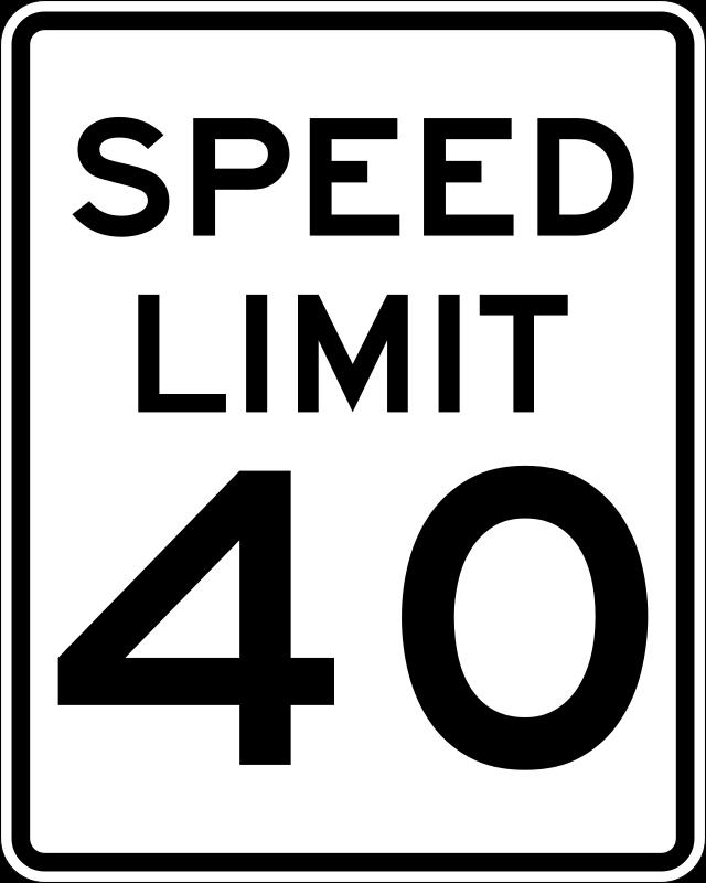 Clipart speed limit vector transparent download Free Clipart: Speed Limit 40 | Rfc1394 vector transparent download