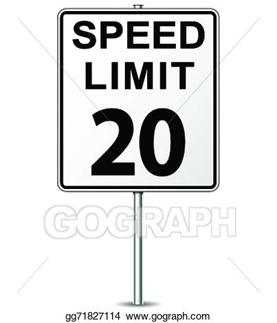 Clipart speed limit clipart black and white library Vector Art - Vector speed limit sign. EPS clipart gg71827114 - GoGraph clipart black and white library
