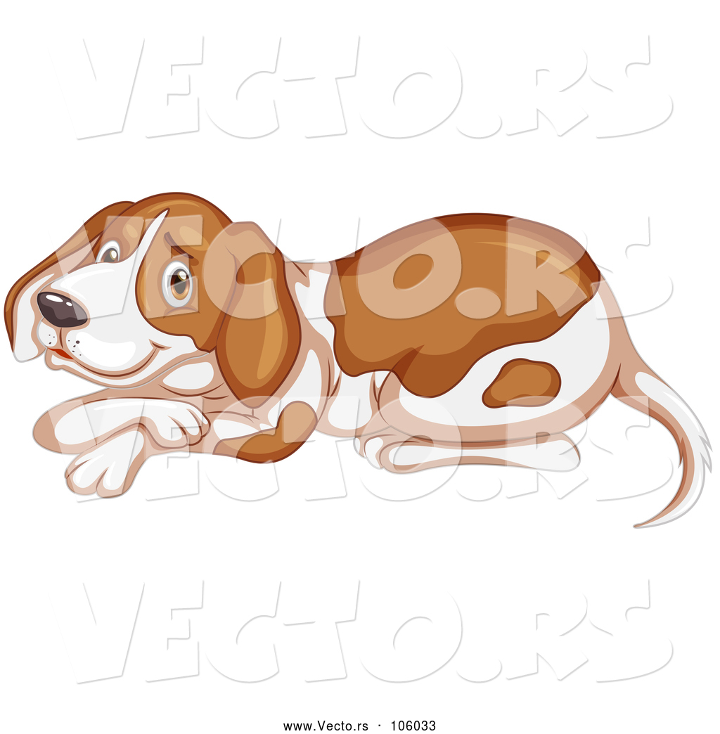 Clipart spoiled beagle banner royalty free Vector of Beagle or Hound Dog Resting by Graphics RF - #106033 banner royalty free