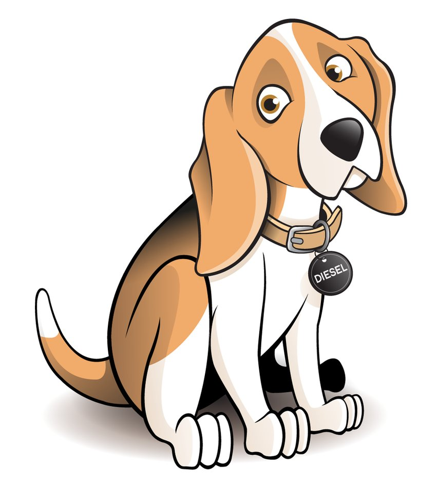 Clipart spoiled beagle clipart black and white library Beagle Dog Cartoon - Clip Art Library clipart black and white library