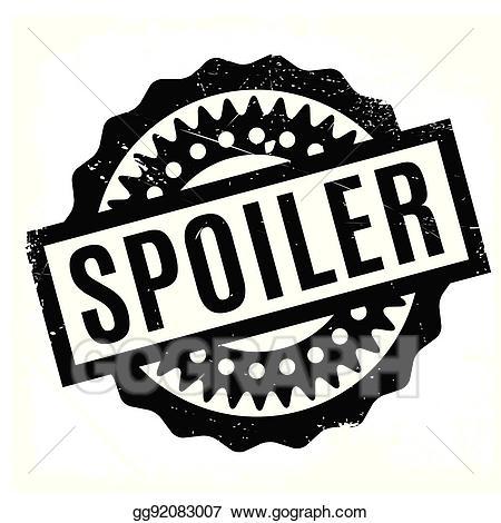 Clipart spoiler jpg black and white Vector Stock - Spoiler rubber stamp. Clipart Illustration gg92083007 ... jpg black and white