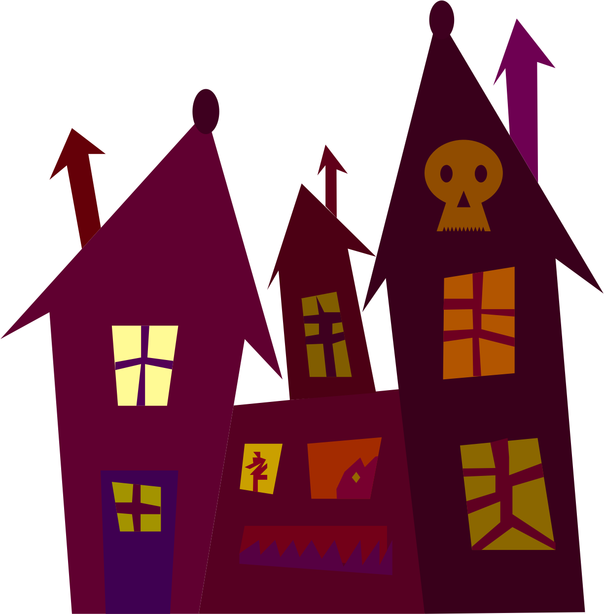 Clipart spooky house svg freeuse download Clipart - Spooky house svg freeuse download