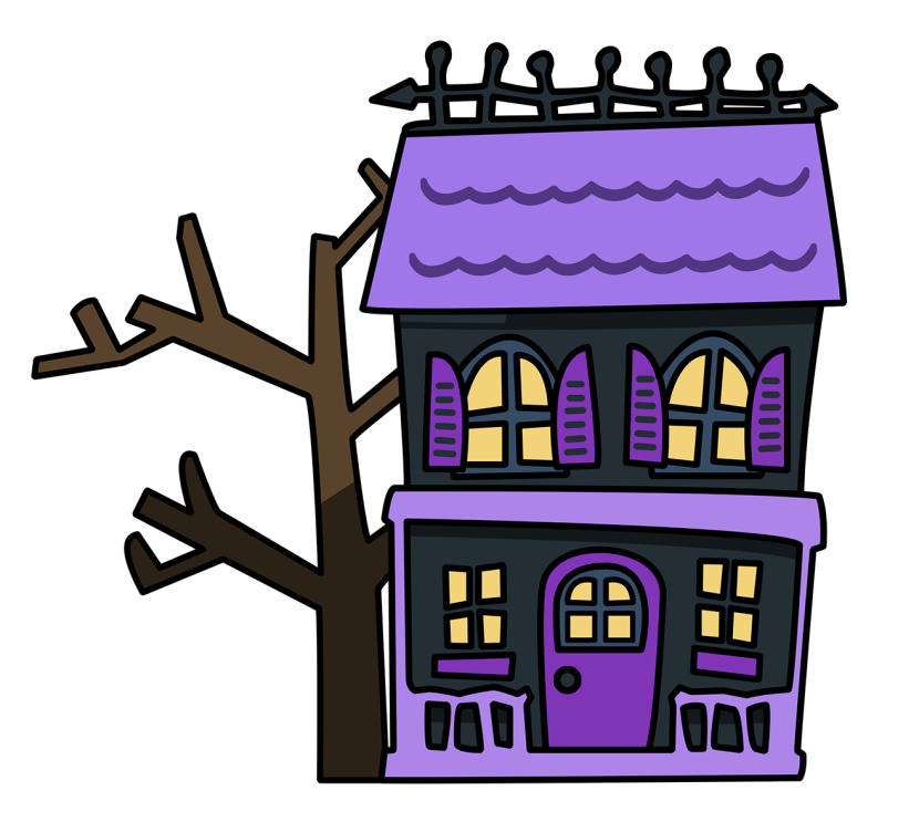 Halloween window clipart image freeuse library 28+ Collection of Cartoon Haunted House Clipart | High quality, free ... image freeuse library