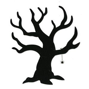 Clipart spooky tree graphic transparent download Sizzix Bigz Die - Tree, Scary | Halloween | Spooky trees, Tree ... graphic transparent download