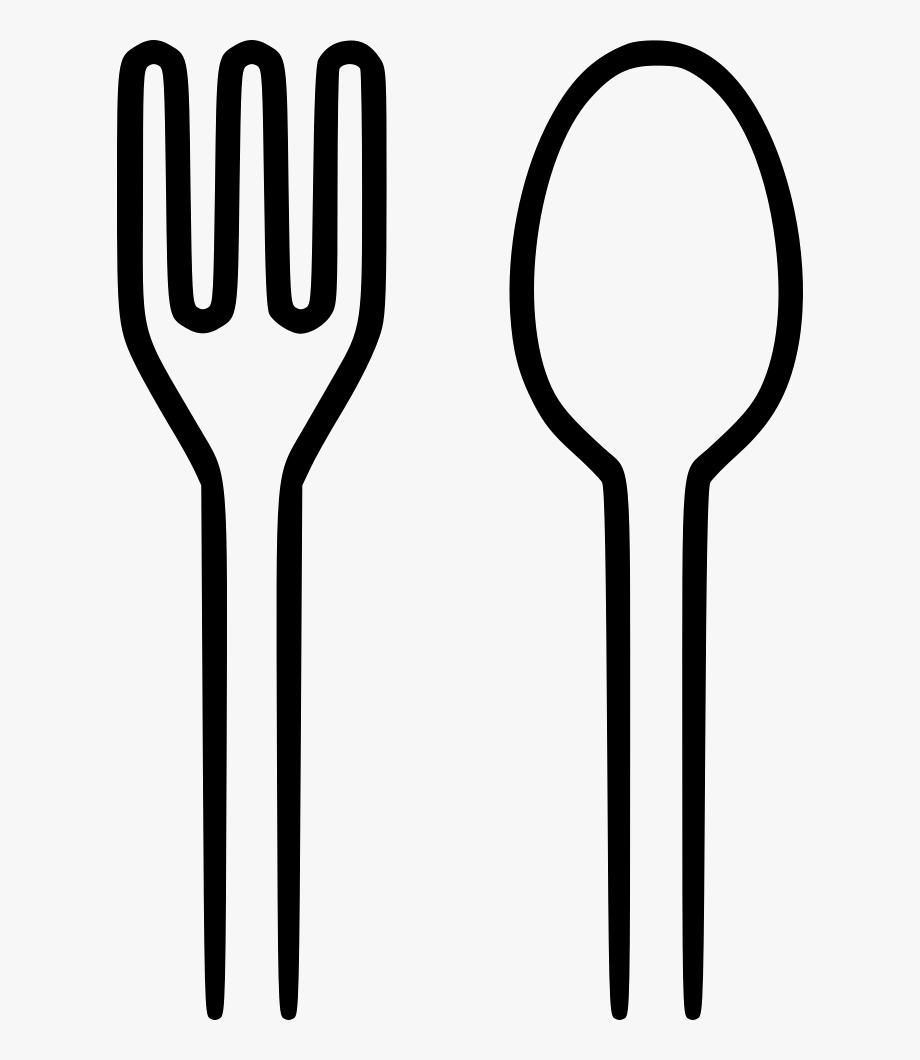 Clipart spoon and fork picture freeuse Spoon Fork Png - Spoon And Fork Clipart Black And White #333221 ... picture freeuse