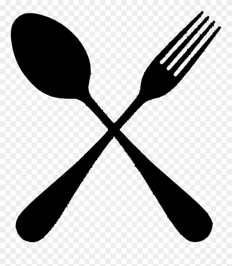 Spoon and fork clipart png black and white The Gallery For > Spoon And Fork Png - Silhouette Spoon And Fork Png ... png black and white