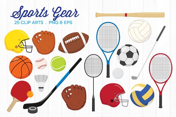 Clipart sports equipment clip free stock Sports Equipment Clipart & Look At Clip Art Images - ClipartLook clip free stock