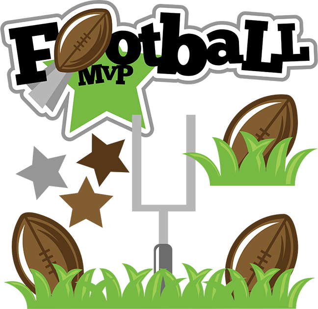 Clipart sports football vector black and white library Football MVP SVG football svg file sports clipart cute clip art ... vector black and white library