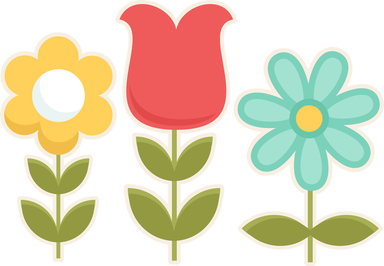 Cute clipart flowers png royalty free library SPRING FLOWERS CLIP ART | CLIP ART - SPRING - CLIPART | Flowers ... png royalty free library