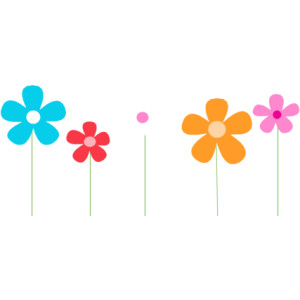 Spring flowers clipart banner