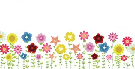 Clipart spring flowers border clipart black and white library Free Clipart Spring Flowers & Look At Clip Art Images - ClipartLook clipart black and white library