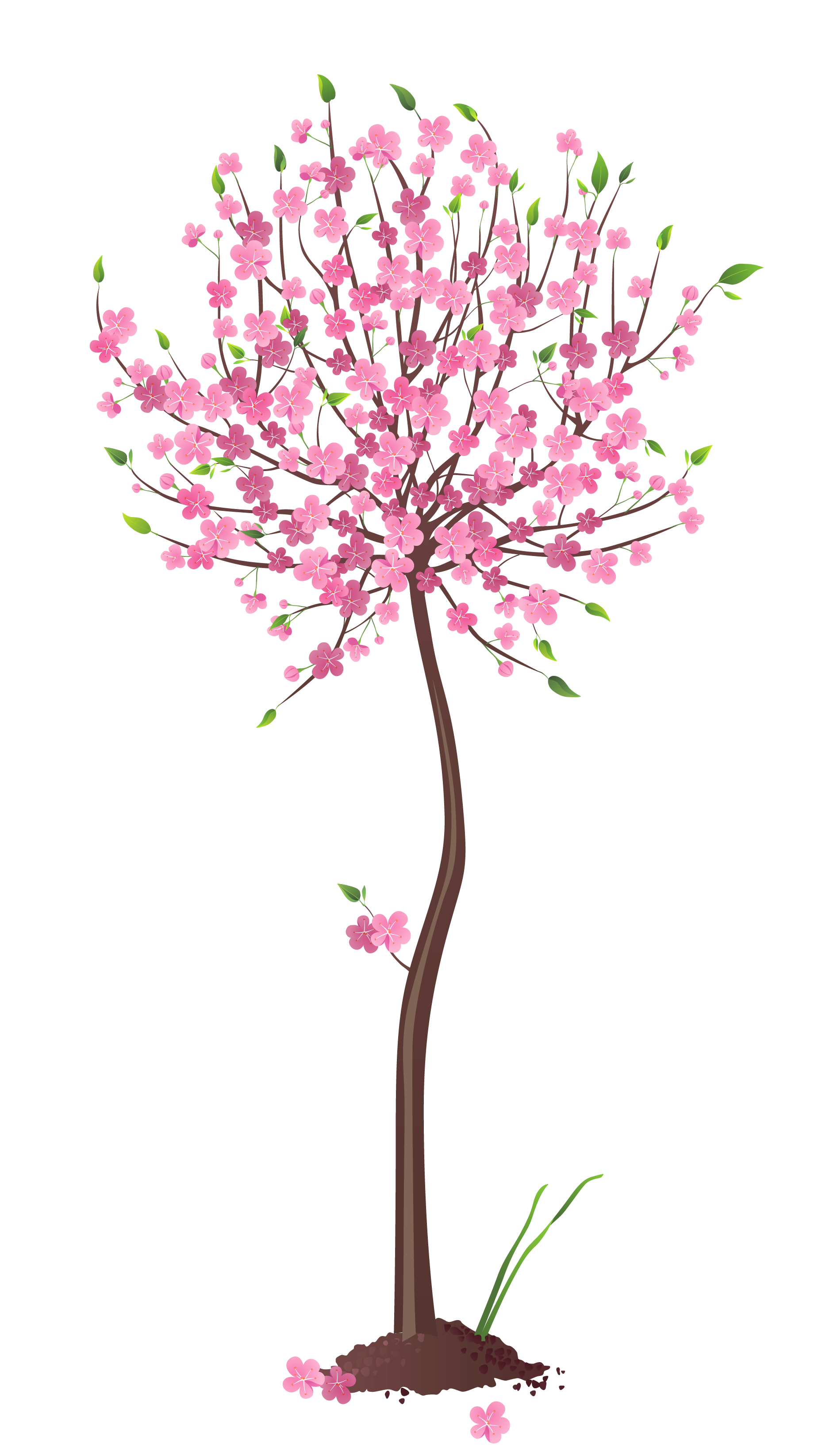 Clipart spring tree svg royalty free stock Spring Pink Tree PNG Clipart | Gallery Yopriceville - High-Quality ... svg royalty free stock