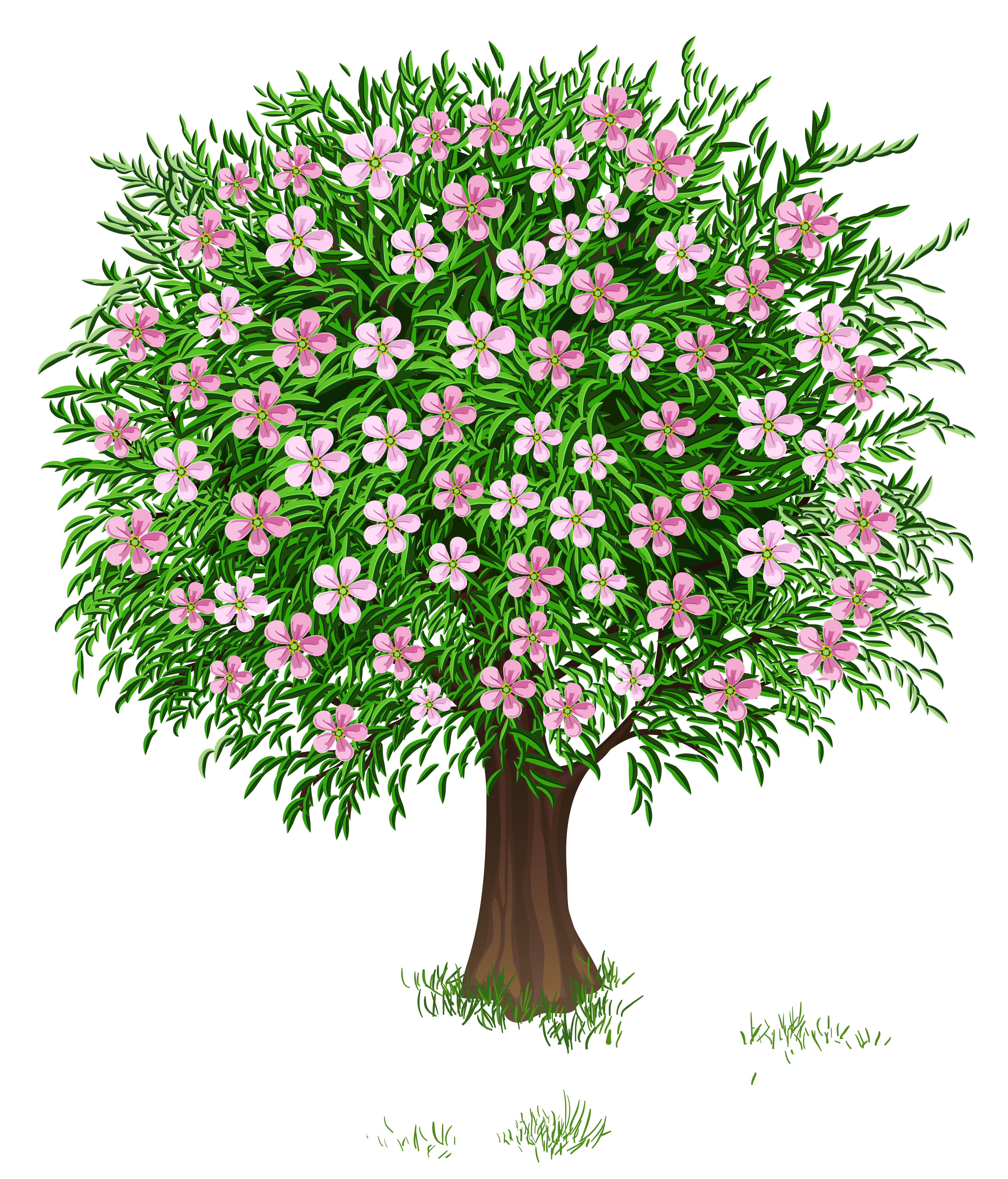Clipart spring tree vector black and white Spring Tree Transparent PNG Clipart Picture | Gallery Yopriceville ... vector black and white