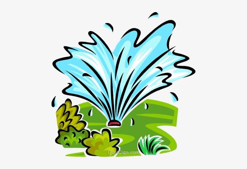 Clipart sprinklers royalty free library Water Sprinkler Royalty Free Vector Clip Art Illustration - Lawn ... royalty free library