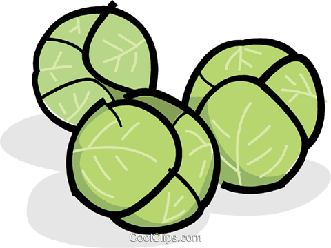 Clipart sprouts jpg freeuse library Brussels sprouts Royalty Free Vector Clip Art illustration -vc061817 ... jpg freeuse library