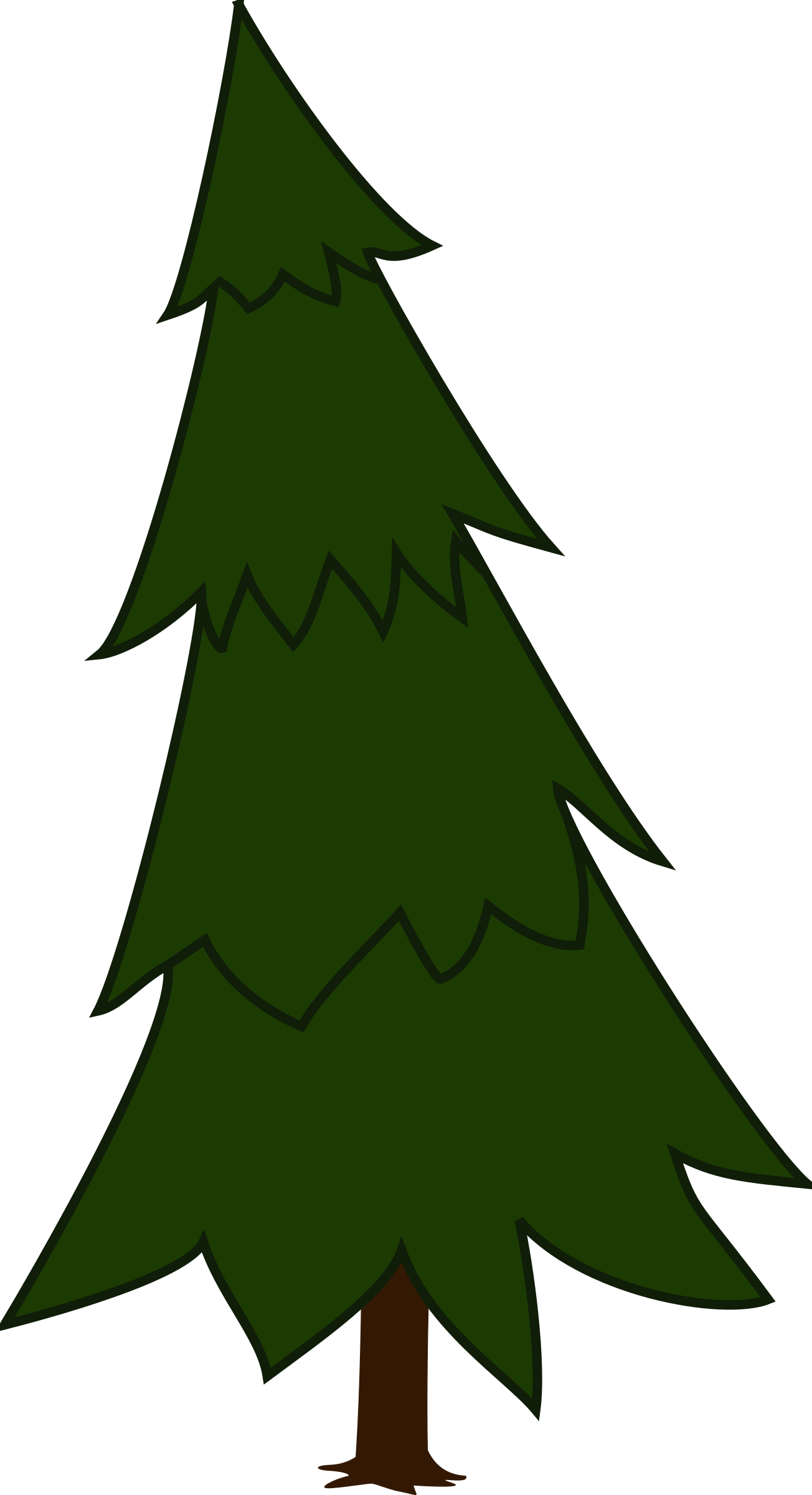 Spruce tree clipart banner freeuse stock Clipart - Spruce banner freeuse stock