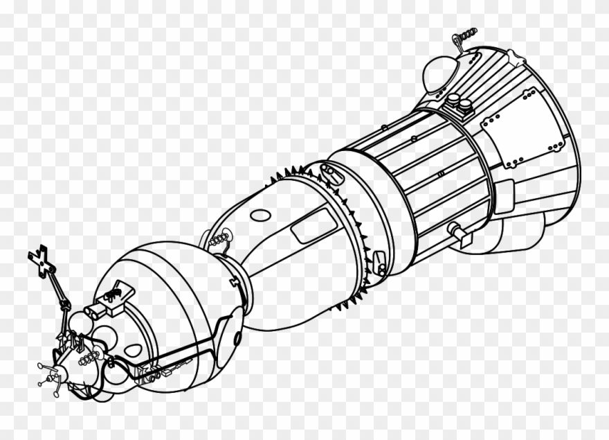 Clipart sputnik graphic black and white Rp1357 P16 L2 - Korabl Sputnik Black Line Clipart (#3613640 ... graphic black and white