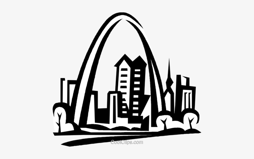 St louis arch clipart free graphic black and white stock Gateway Arch, St - St Louis Arch Clip Art - Free Transparent PNG ... graphic black and white stock