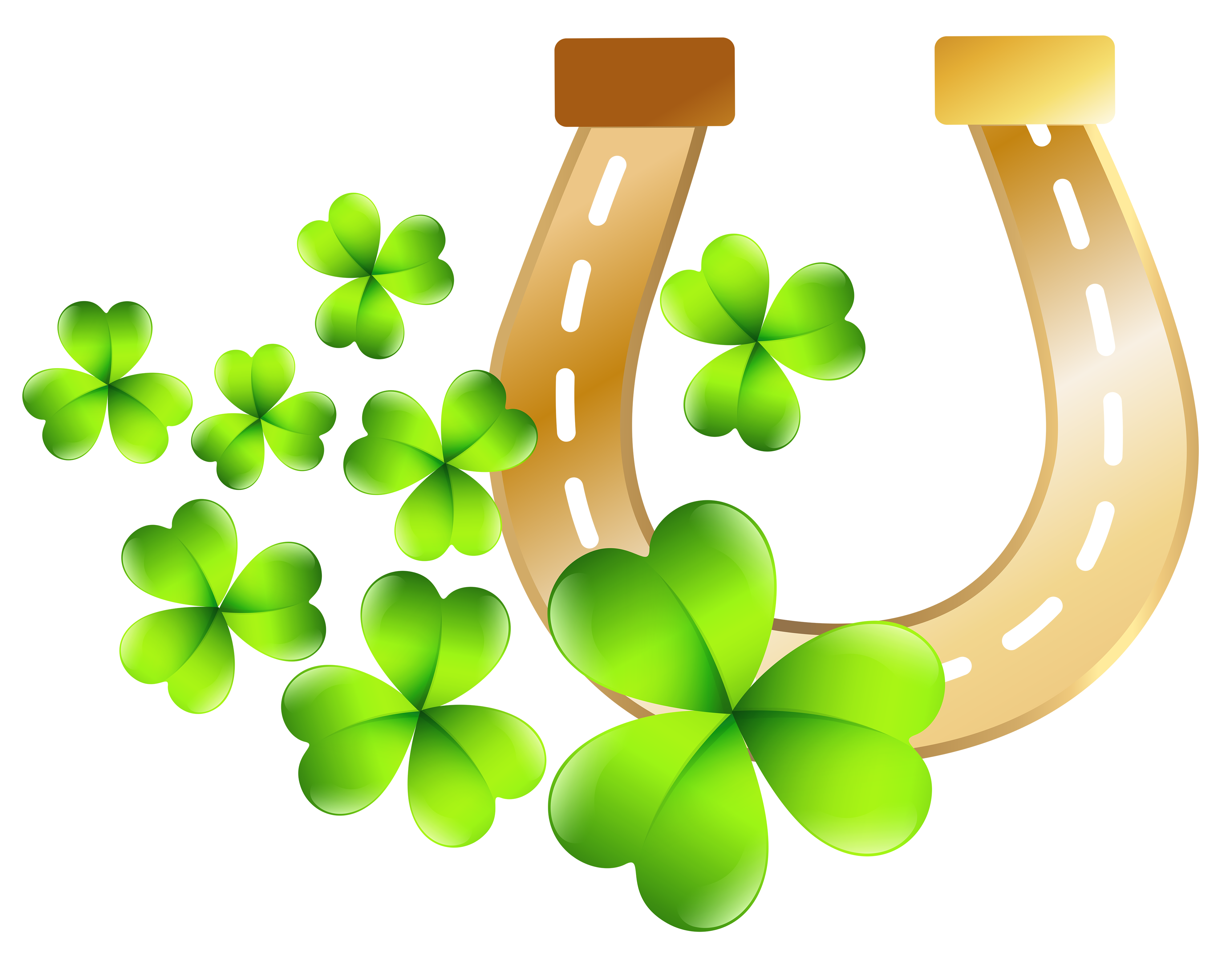 St patty-s day free clipart clipart freeuse library St Patrick\'s Day Horseshoe PNG Clip Art Image | Gallery ... clipart freeuse library