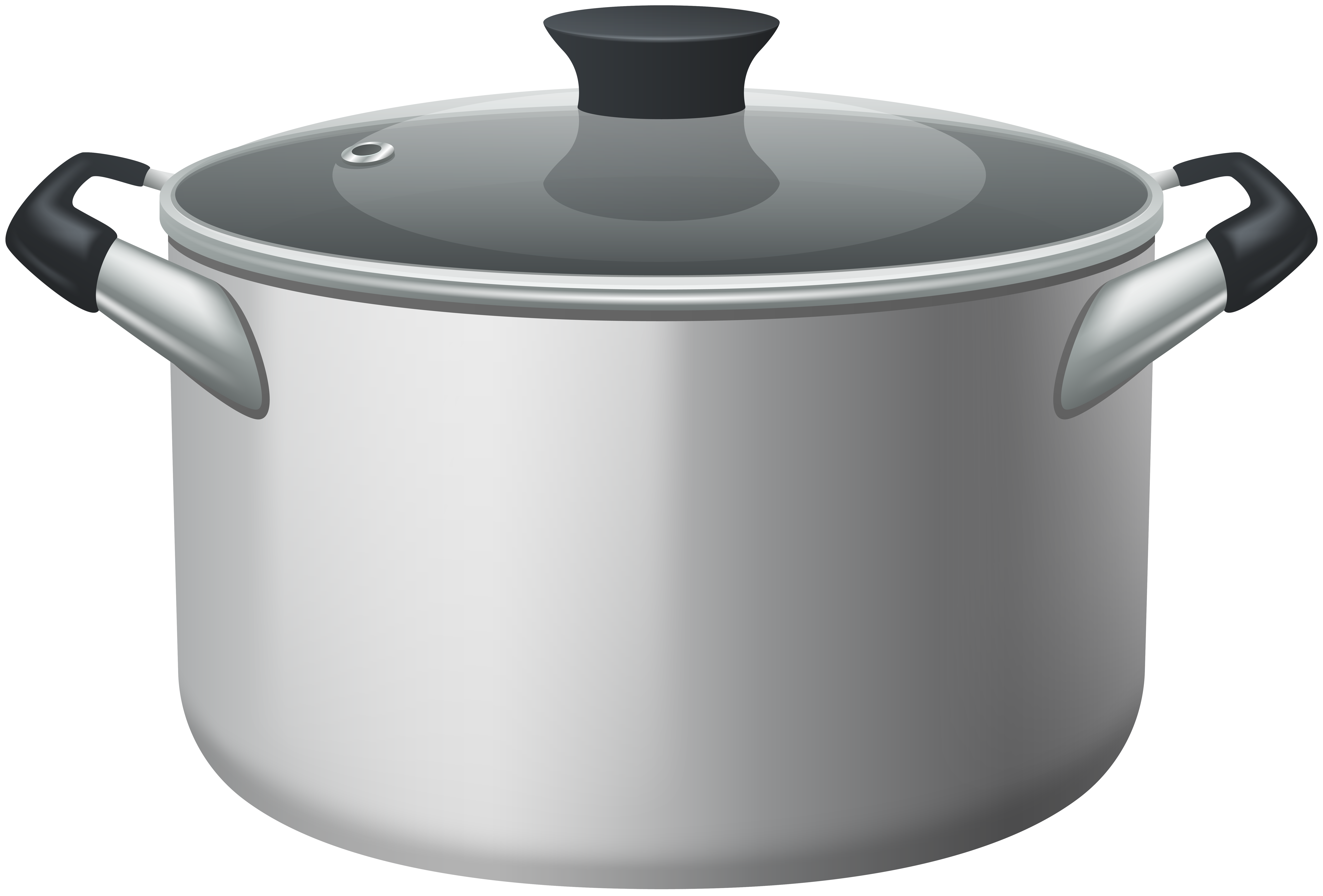 Clipart stainless steel image library Stainless Steel Stock Pot With Glass Lid PNG Clipart - Best WEB Clipart image library