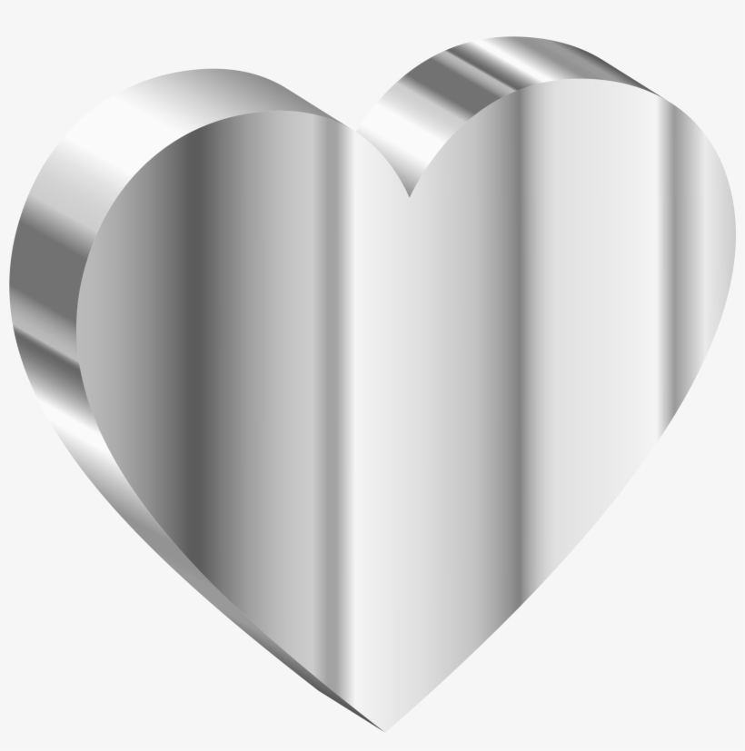 Clipart stainless steel png stock Clipart 3d Heart Of Stainless Steel - Stainless Steel Heart - Free ... png stock