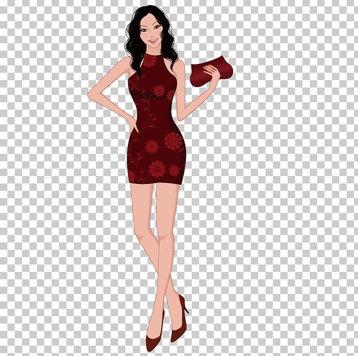 Clipart standing women dress black and white salon graphic freeuse library Model Fashion Clothing PNG, Clipart, Beautiful Girl, Beauty Salon ... graphic freeuse library