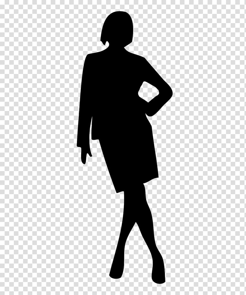 Clipart standing women dress black and white salon clip art library download Woman Silhouette Businessperson, invisible woman transparent ... clip art library download