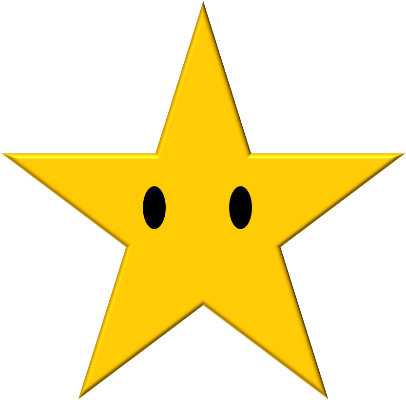 Mario Star With Eyes Png svg free library