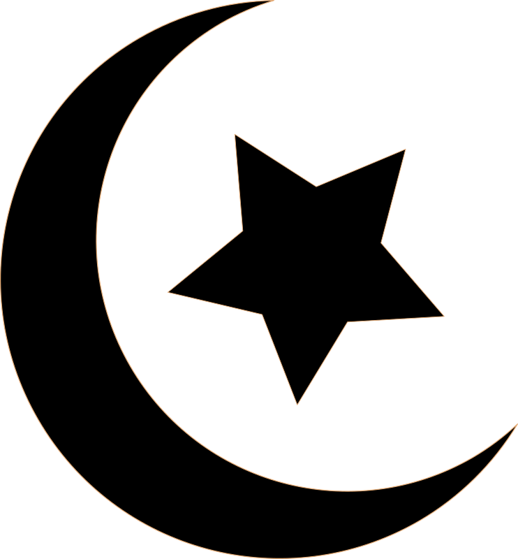Clipart star black and white banner royalty free library Clipart - Black Crescent and Star banner royalty free library