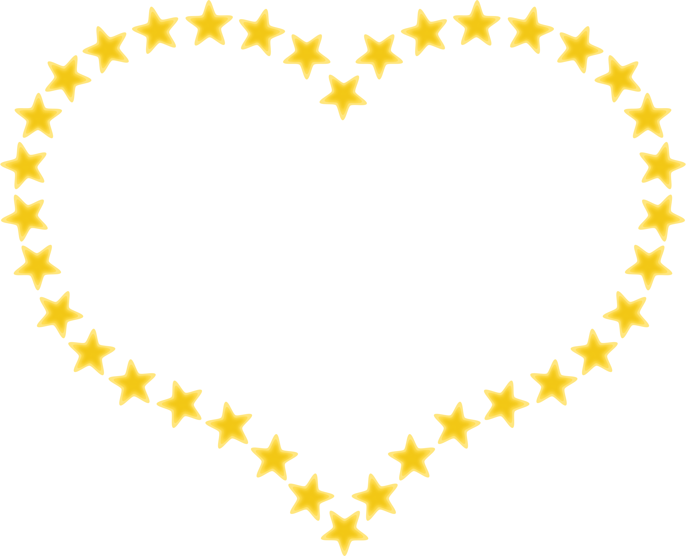 Star shapes clipart jpg library stock Clipart - Heart Shaped Border with Yellow Stars jpg library stock