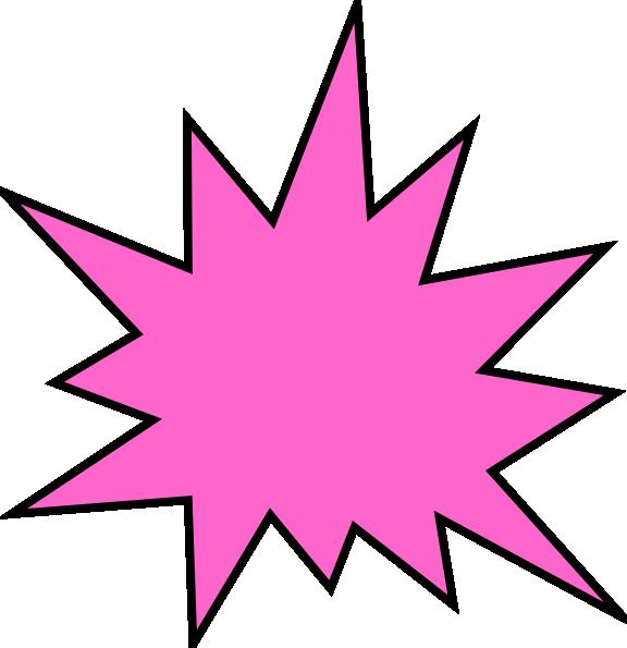 Clipart star burst png free Pink Star Burst Clip Art at Clker.com - vector clip art online ... png free