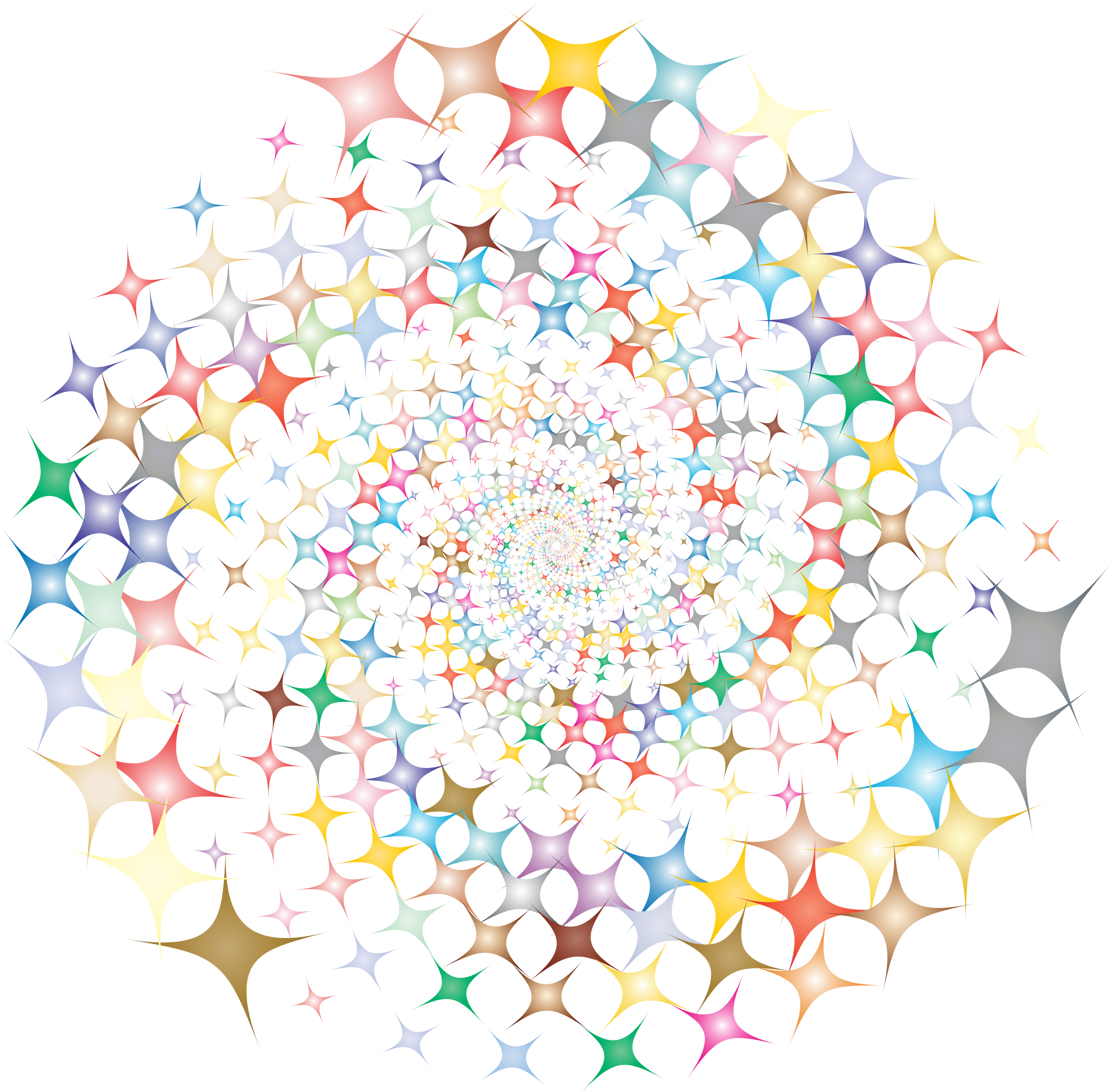 Clipart star burst clip free library Clipart - Prismatic Starburst Vortex 2 clip free library
