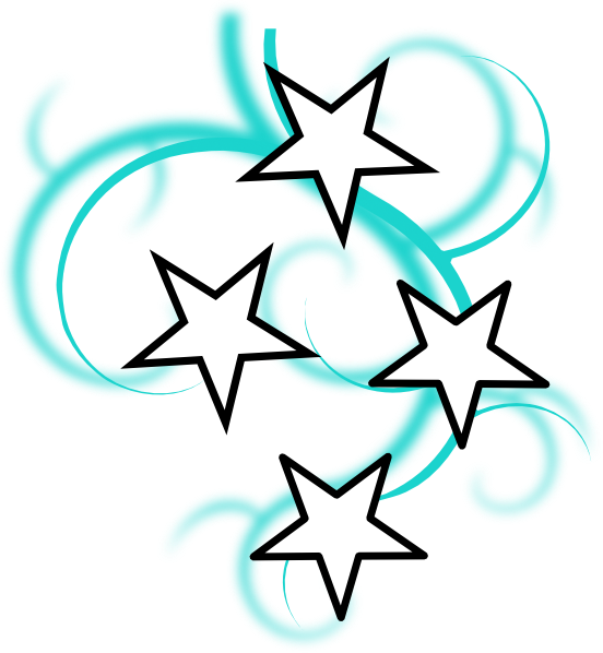 Clipart star filigree image royalty free download Teal And White Tattoo With Stars Clip Art at Clker.com - vector clip ... image royalty free download