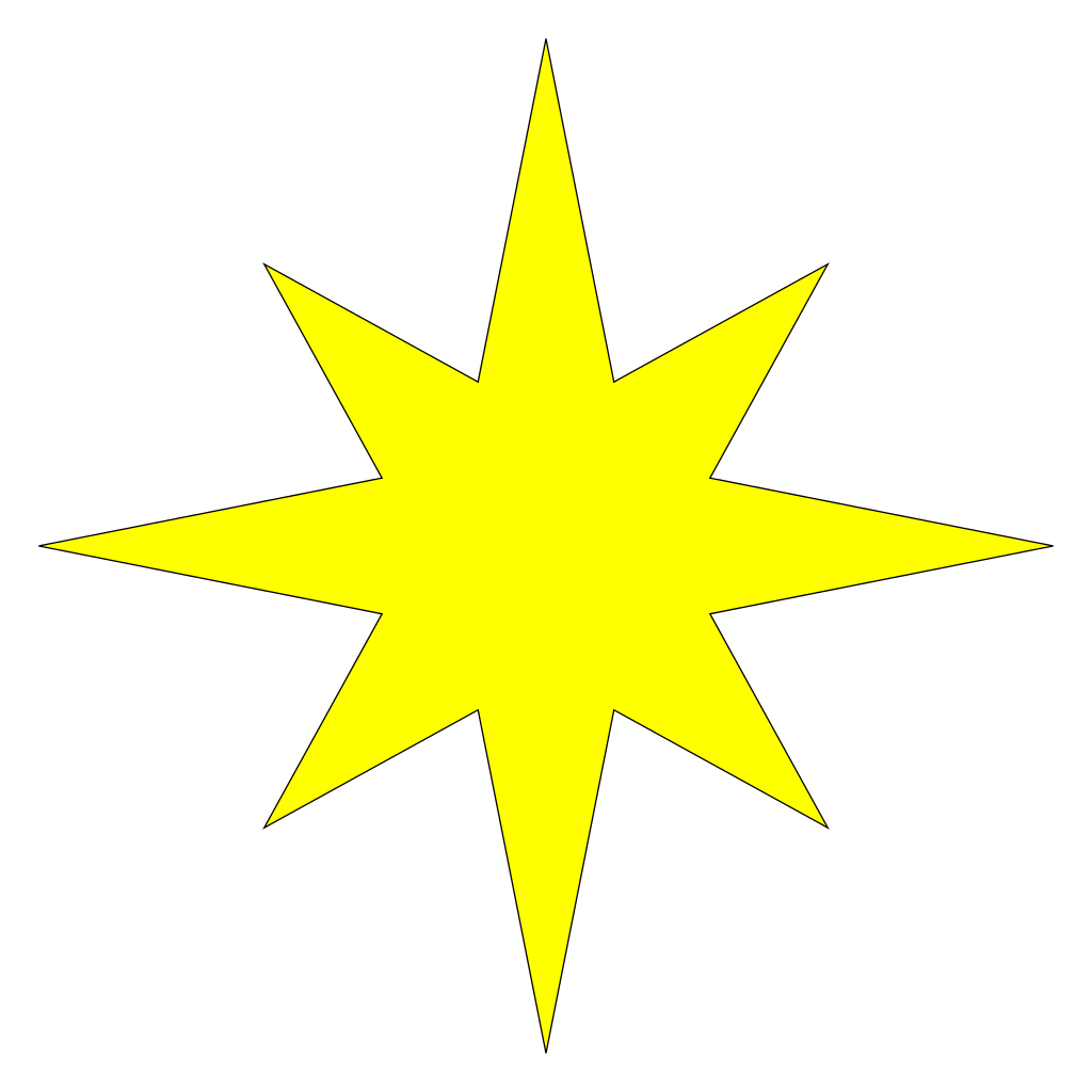 Star of bethelem clipart picture free File:Symmetrical 8-pointed star.svg - Wikimedia Commons picture free