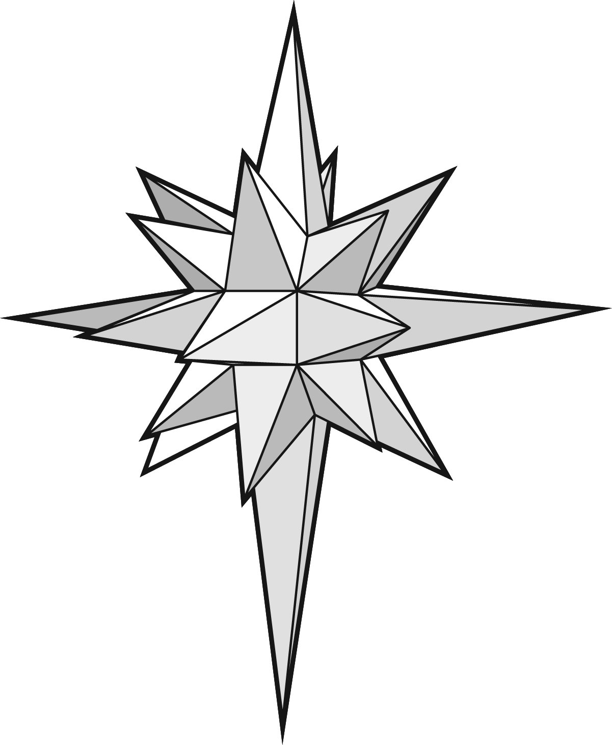 Star of bethlehem clipart black and white png library stock Star Drawing at GetDrawings.com | Free for personal use Star Drawing ... png library stock