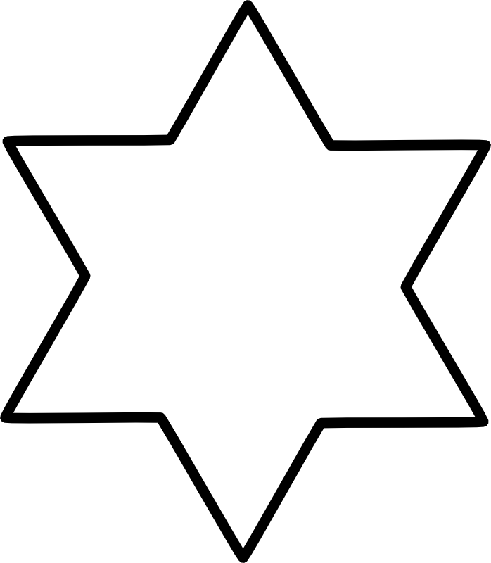 Free star of david clipart jpg black and white library Chrismons and Chrismon Patterns to Download -- Christmas Customs and ... jpg black and white library