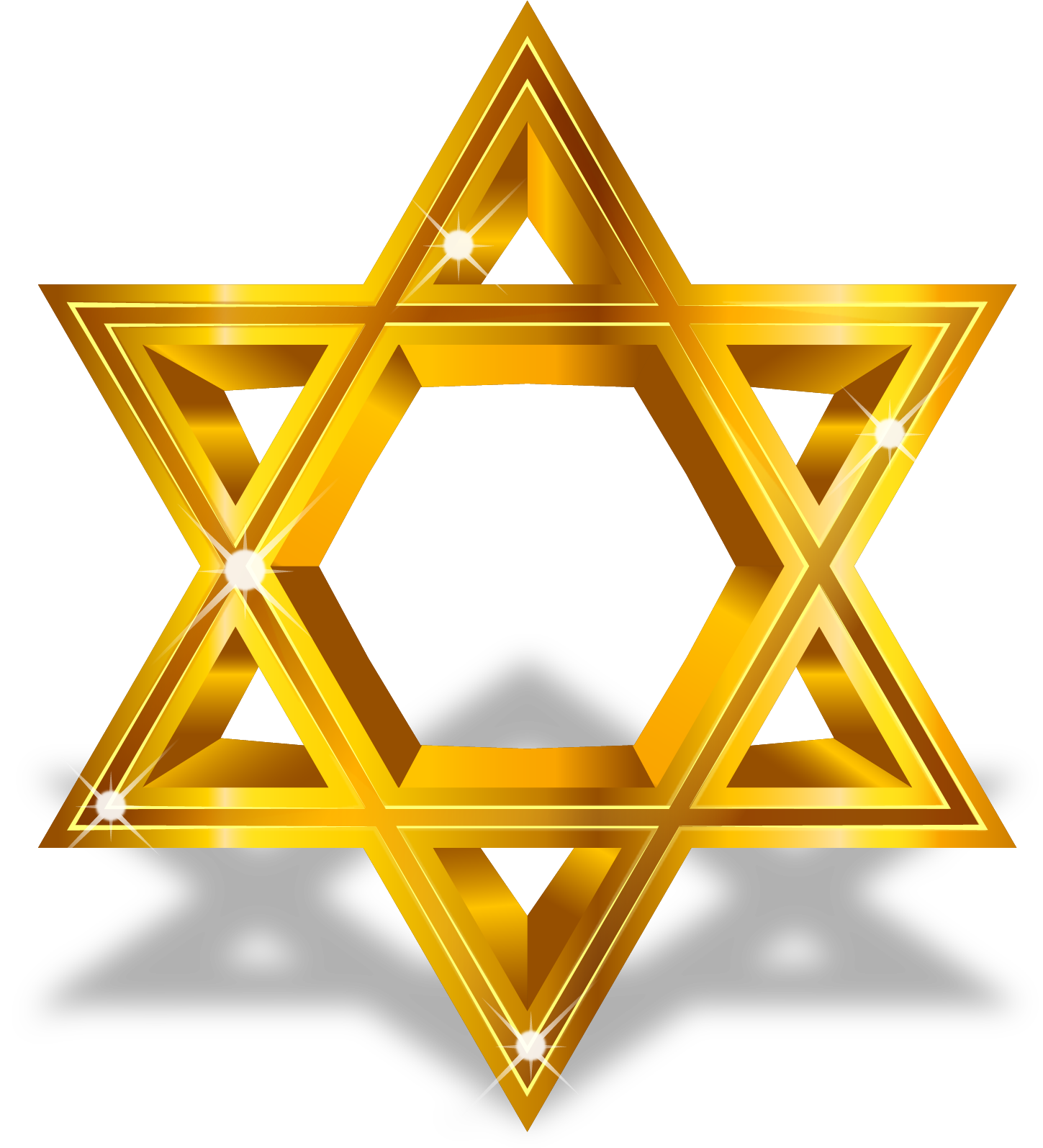 Gold star line clipart clip transparent library Star of David Computer file - Vector painted gold Star of David 1449 ... clip transparent library