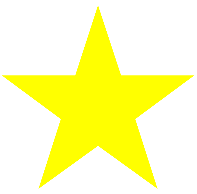 Star shape clipart vector transparent stock free printable yellow stars | stars_solid_large_yellow.png | Stuff ... vector transparent stock