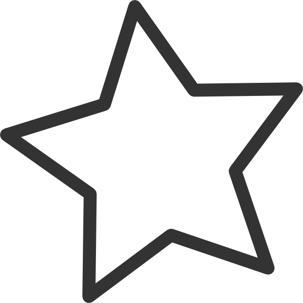 Free png star clipart graphic royalty free stock White Star Clip Art at Clker.com - vector clip art online, royalty ... graphic royalty free stock