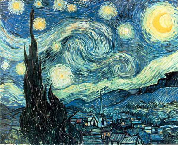 Clipart starry night clipart black and white download Van Gogh Starry Night Clipart | Free Images at Clker.com - vector ... clipart black and white download