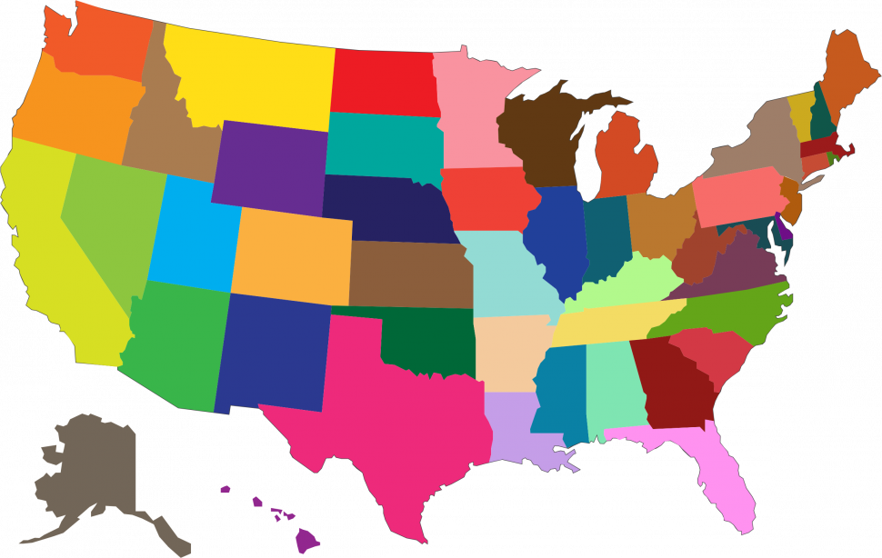 Clipart state clipart library US Map : Map Clip Art Collections Clipart Maps The United States ... clipart library