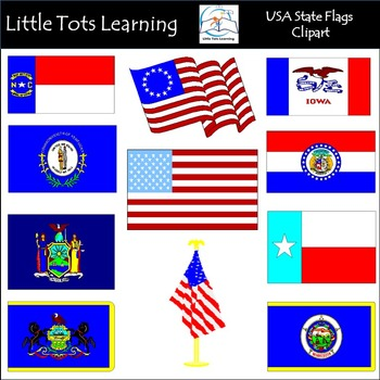 Clipart state flags svg royalty free stock USA State Flags Clip Art: Flags of the US Clip Art svg royalty free stock