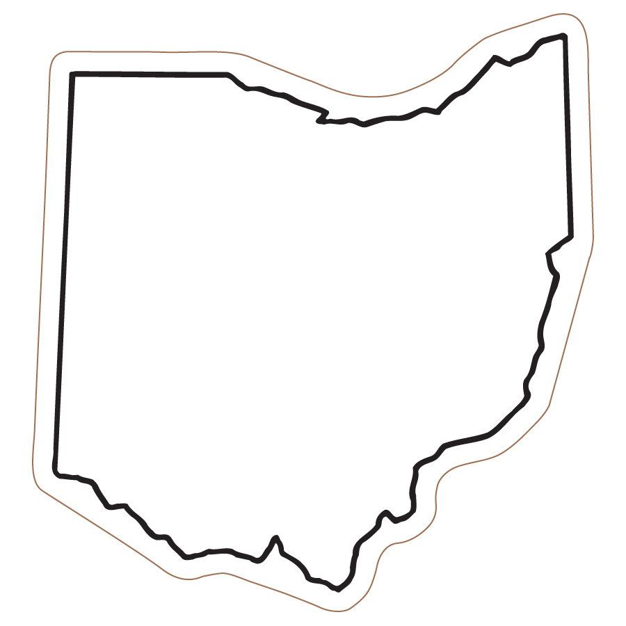 Clipart states outline royalty free library Ohio Clip Art State Outline | Clipart Panda - Free Clipart Images royalty free library
