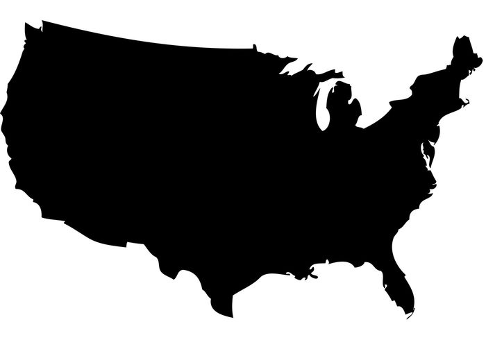 Clipart states outline jpg black and white library United states outline clipart - ClipartFox jpg black and white library