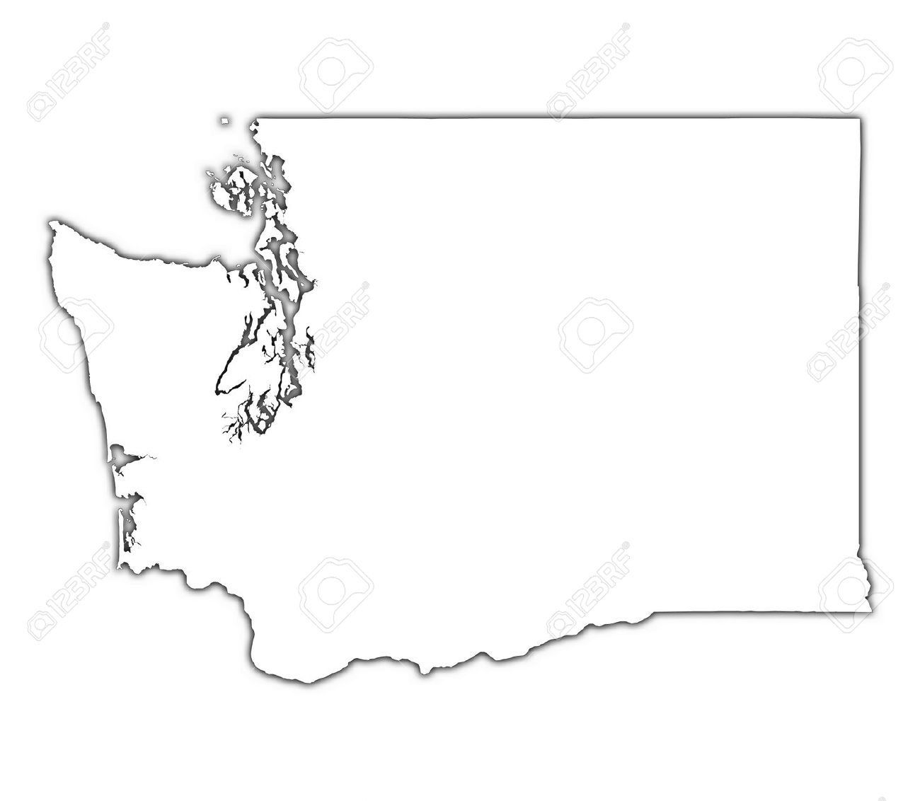 Clipart states outline png free stock Washington state outline clipart - ClipartFest png free stock